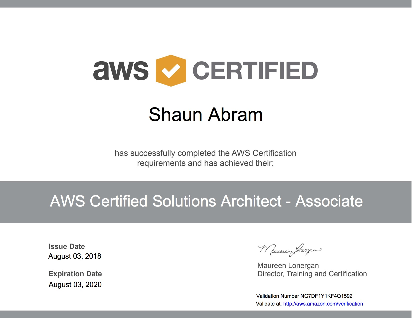 Shaun Abram Blog Archive Passed Aws Certified Solutions